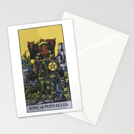 King of Pentacles - A Tarot Print Stationery Cards