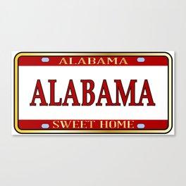 Alabama State Name License Plate Canvas Print