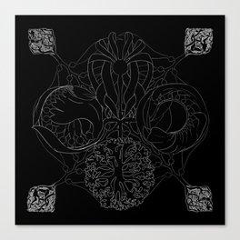 The Ocean's, Chalkboard Canvas Print