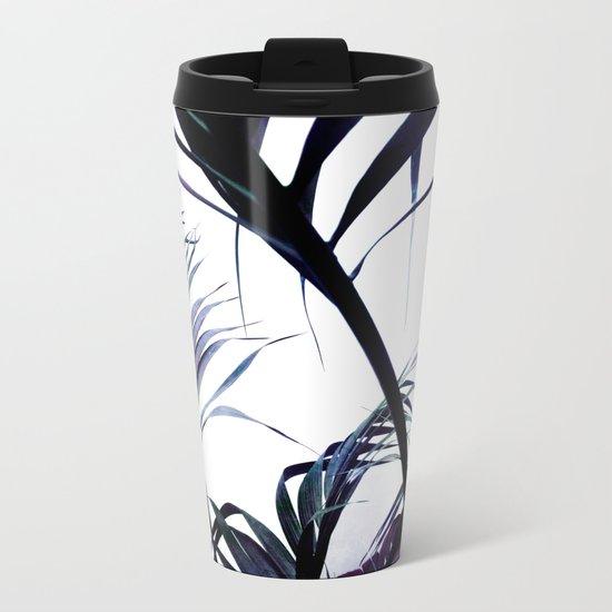Palms Silhouettes Metal Travel Mug