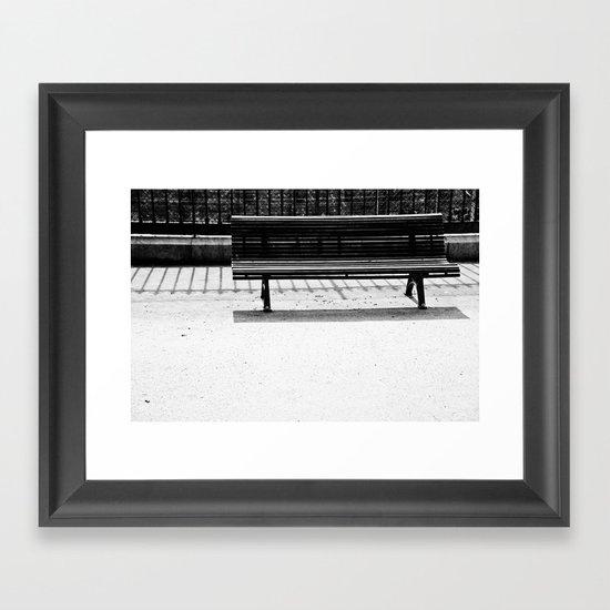 Bench a la Paris. Framed Art Print