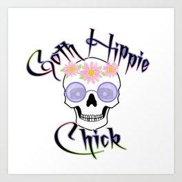 Goth Hippie Chick Art Print