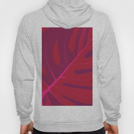 Only One Monstera Leaf in Red And Purple Colors #decor #society6 #buyart Hoody