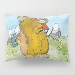 bear on skateboard Pillow Sham