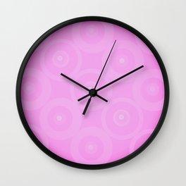 Pink Circle Circles Circles Wall Clock