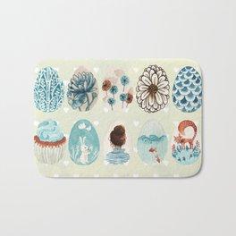 Easter eggs blue colletion Bath Mat