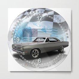 "1969 Plymouth Road Runner Decorative 10"" Wall Clock (029ac) Metal Print"