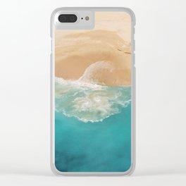 Ocean & Beach Aerial View Clear iPhone Case