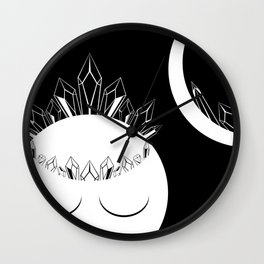 The Crystal Goddess Dark Wall Clock