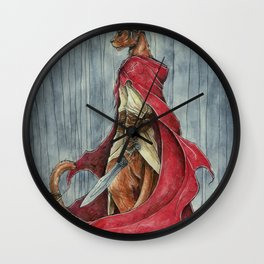 Forest Warrior Wall Clock
