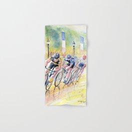 Colorful Bike Race Art Hand & Bath Towel