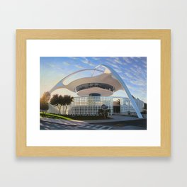 LAX Theme Building - Ground Level Framed Art Print