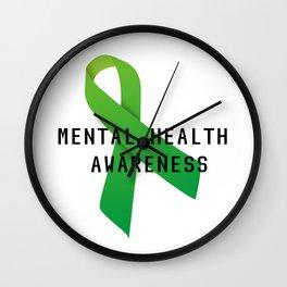 Mental Health Awareness Wall Clock