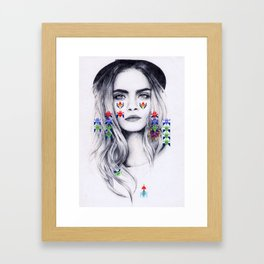 Playin' Video Games Framed Art Print