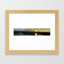 Panorama at the Oasis on Lake Travis Framed Art Print