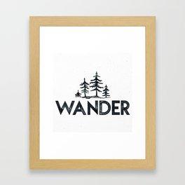 WANDER Forest Trees Black and White Framed Art Print