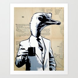 Duck Head Art Print