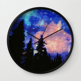 The Galaxy Above Us Wall Clock