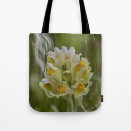 Yellow common Toadflax flower Tote Bag
