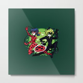 Miraculous Ladybug and Cat Noir Metal Print