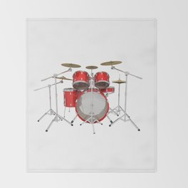 Red Drum Kit Throw Blanket