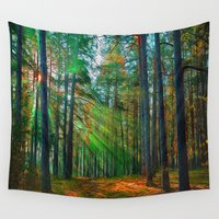breaking Wall Tapestries featuring Breaking Through by Robin Curtiss