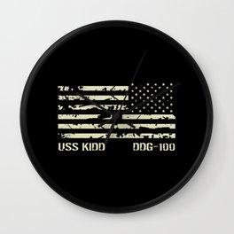 USS Kidd Wall Clock