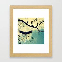 Stork//colora Framed Art Print