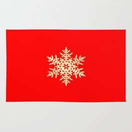 Snowflake in a Red Field Gift Rug