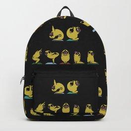 Be Still Alphabet Pugs Backpack