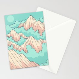 Peaks of the forest Stationery Cards
