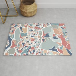 Jerusalem Map Art Rug
