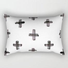 plus sign pattern Rectangular Pillow