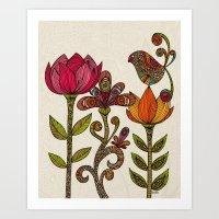 garden Art Prints featuring In the garden by Valentina Harper