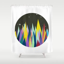 Zackenpunkt No. 4 Shower Curtain