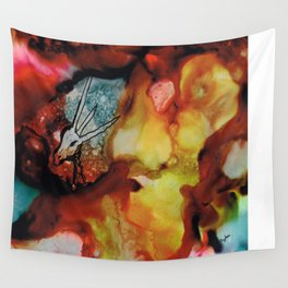 Horned beast Wall Tapestry
