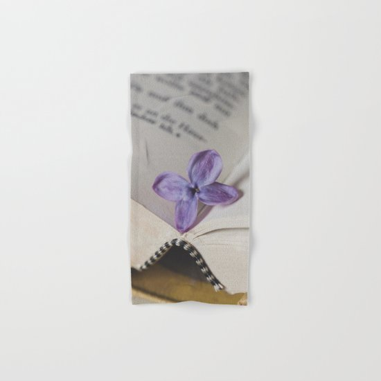 Lilac Bookmark Hand & Bath Towel