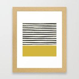 Mustard Yellow & Stripes Framed Art Print