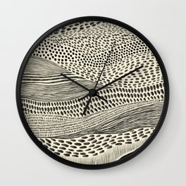 Hand Drawn Patterned Abstract II Wall Clock