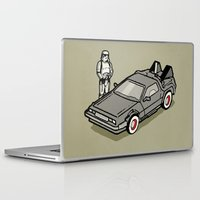 delorean Laptop & iPad Skins featuring Stormtrooper and his Delorean by Vin Zzep