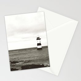 Lighthouse - black and white Stationery Cards