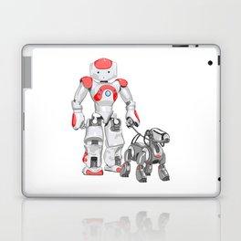 The Dog Walker. (Red) Laptop & iPad Skin