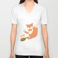cook V-neck T-shirts featuring cook pancakes by 1ena