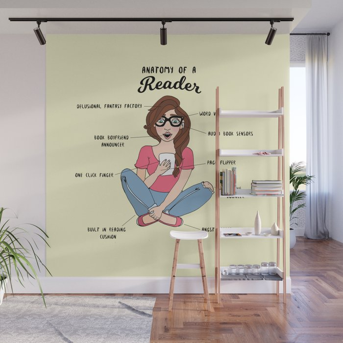 Anatomy Of A Reader Wall Mural By Janaaston Society6