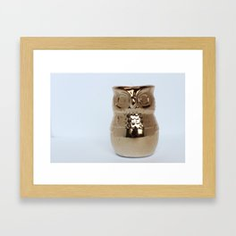 Gold Owl Framed Art Print