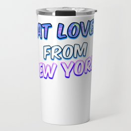Cat Lover From New York Travel Mug