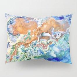 Singularity, Abstract Fluid Acrylic Pour  Pillow Sham