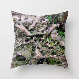 Life on a Fallen Tree Throw Pillow