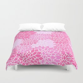 Pink Dahlias / Pink Floral / Pink Flowers Duvet Cover