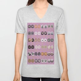 Toe Beans on Pink / Cat Paws Unisex V-Neck